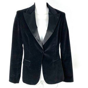 T Tahari velvet smoking jacket blazer evening